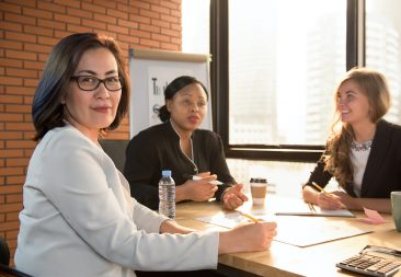 Asian senior businesswoman leader at meeting room