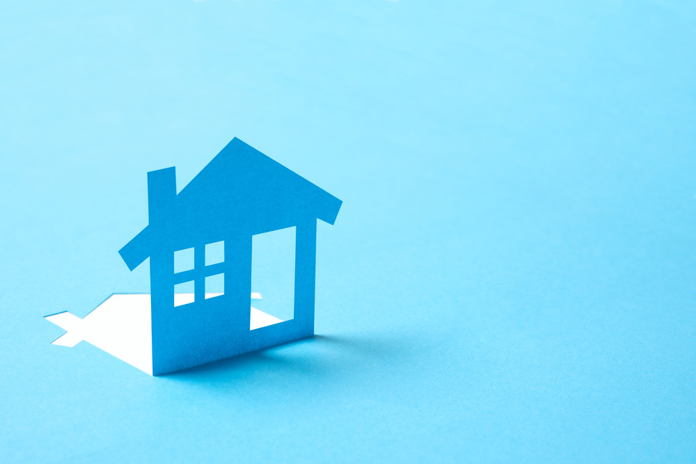 House in paper for real estate property industry